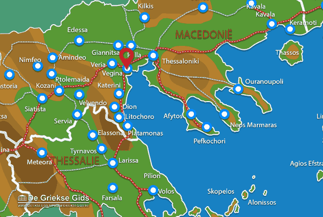 Map of Vergina