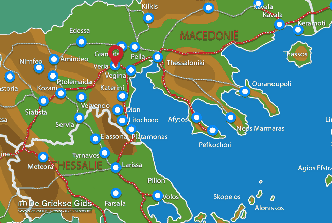 Map of Veria