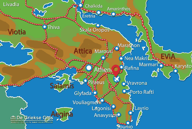 Map of Athens airport