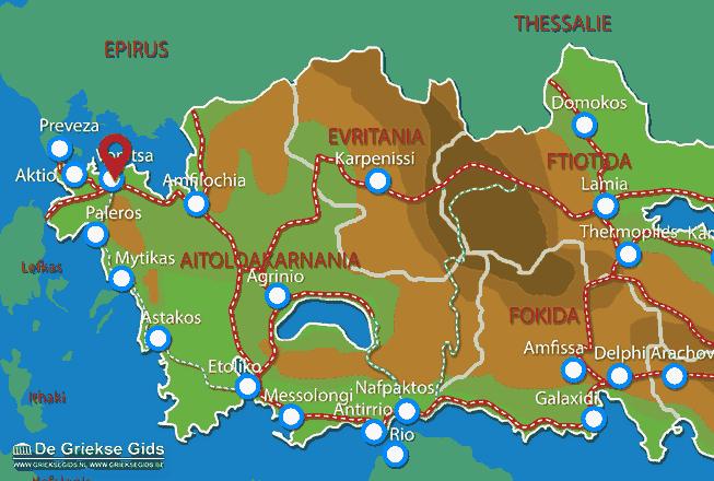 Map of Vonitsa