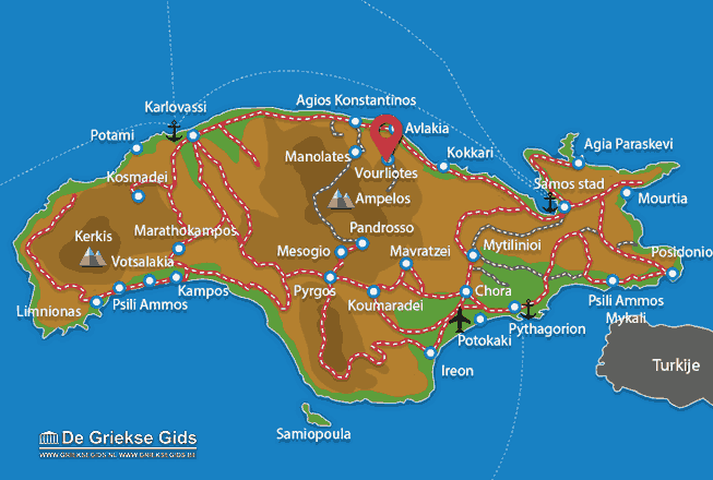 Map of Vourliotes