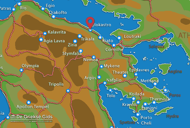 Map of Xylokastro