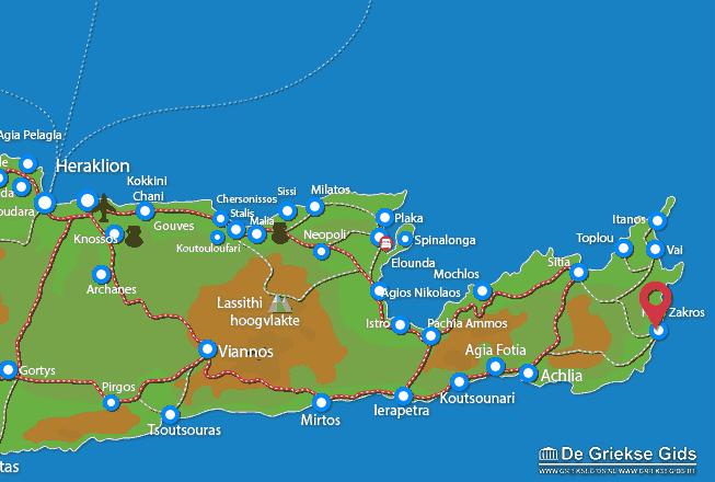 Map of Kato Zakros