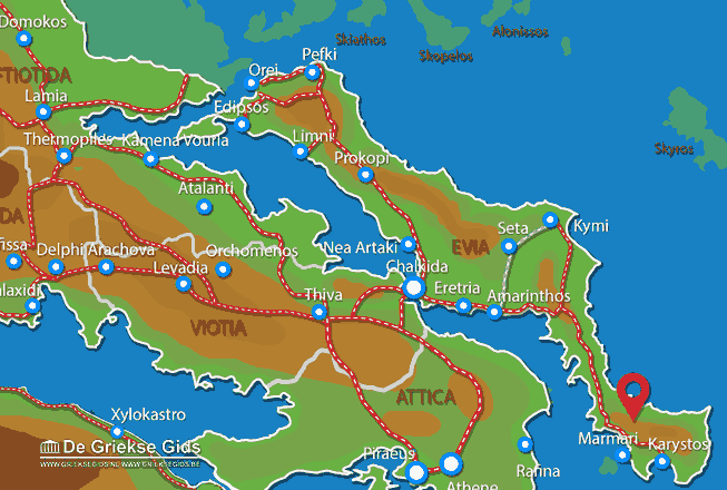 Map of Zuid Evia