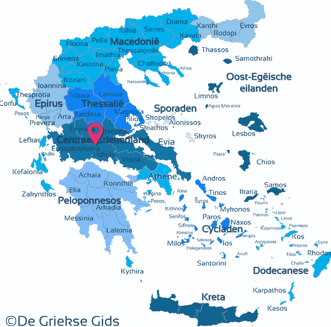 Map of Central Greece