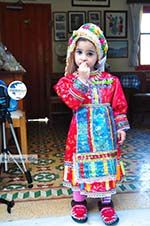Anna, the dochter of Marina Lentaki of Taverna Olympos on Karpathos 2 - Photo GreeceGuide.co.uk