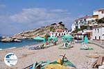 Ligbedden and beachstoelen at beach Kokkari - Island of Samos - Photo GreeceGuide.co.uk