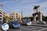 The Gate of Adrianus on the busy Leoforos Amalias - Photo GreeceGuide.co.uk