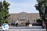 The Greek parliament from the Syntagma Square - Photo GreeceGuide.co.uk