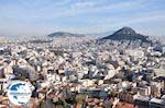 The Lycabetus (Lycabettus) hill from Acropolis of Athens - Photo GreeceGuide.co.uk